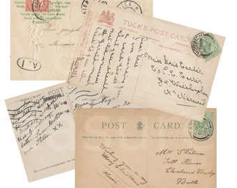Blank Postcards Vintage style Digital Images for card making or Crafts (pack 1)