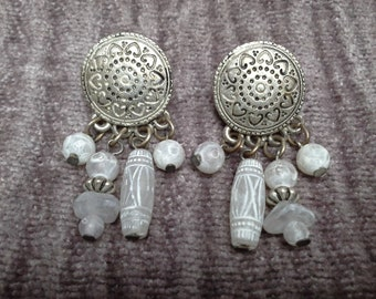 Silver Pierced Earrings: Vintage  Pierced Earrings