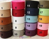 5 yards Cotton Heavy Canvas Webbing in 20mm width for Hangbag   - CW02-20