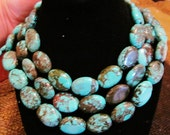 Custom Order 2 Small Turquoise with Brown Matrix Stretch Bracelets
