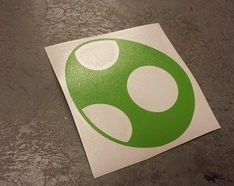 "4"" Green Yoshi Egg Decal"