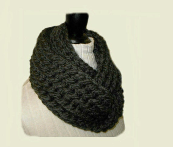 Chunky Infinity Scarf Cowl Knit Bulky Super by ...