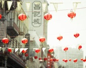Red Chinese Lanterns Chinatown, San Francisco - Travel Photography, Mint, Coral, Nursery Wall Decor - Red Lanterns