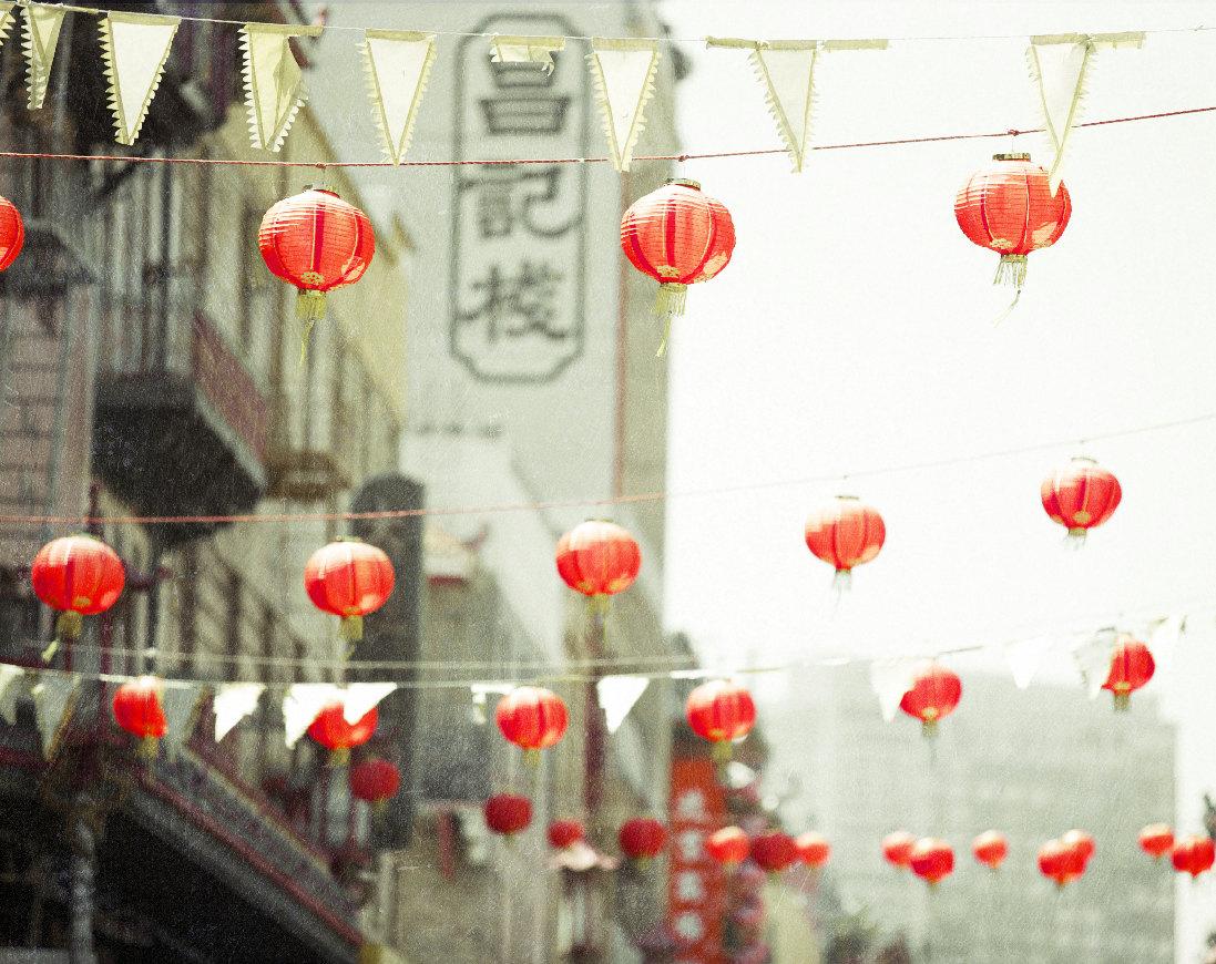 Red Chinese Lanterns Chinatown San Francisco Travel