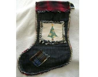 Western Rag Style Christmas Stocking #5