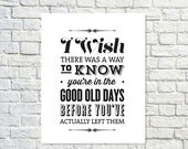 BUY 2 GET 1 FREE Typography Print, The Office Quote, Tv Quote, Andy Bernard, The Office Tv Show, Black White Decor,  - Good Old D