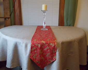 Table runner  approx 10 x 72 Fall and Christmas Reversible