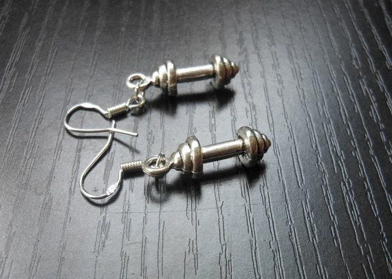 dumbbell earrings barbell earrings fitness jewlery