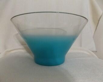 Salad Bowl, BLENDO Turquoise/blue chip or salad bowl
