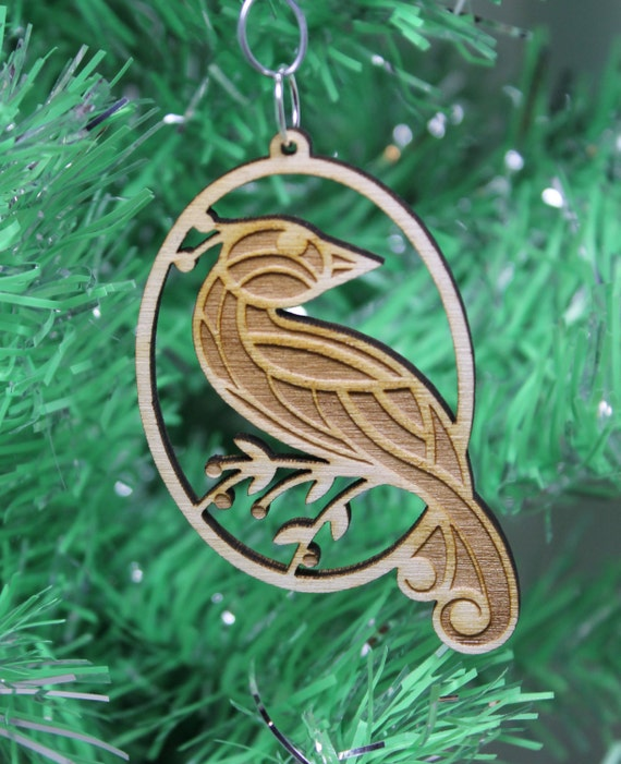 Partridge Christmas Ornament Plywood Laser by ...