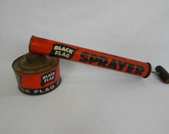 Vintage 1960's Black Flag Sprayer