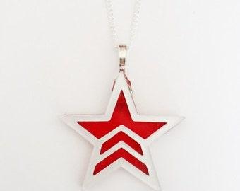 Mass Effect Renegade necklace
