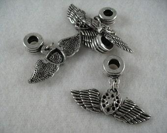Pendant, metal, 4 pieces (1258)