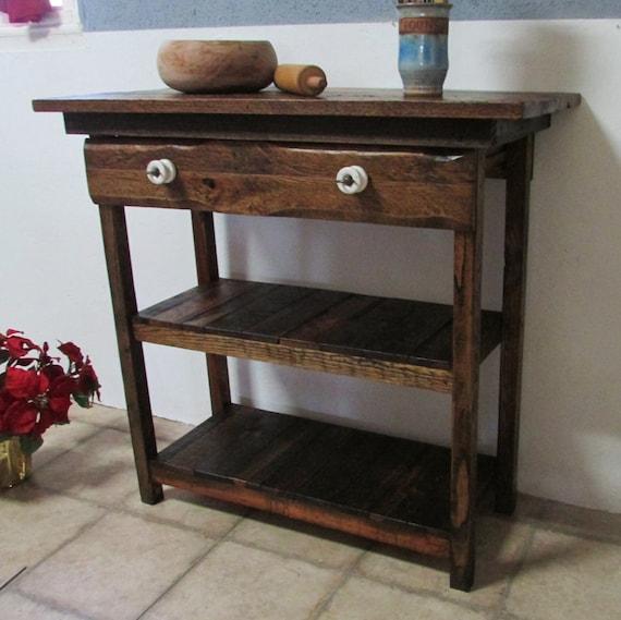 Farmhouse Table As Kitchen Island: Items Similar To Kitchen Island Cart, Rustic Farmhouse