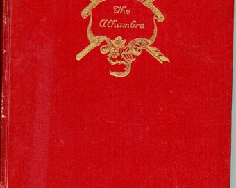 """1927 Book, """" The Alhambra"""" by Washington Irving"""