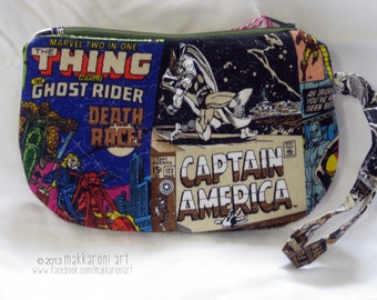 Zippered Wristlet/Clutch in a Great Marvel Comics Fabric