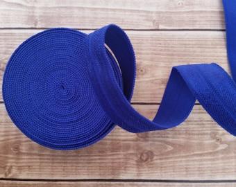 5/8 COBALT BLUE Fold Over Elastic 5 or 10 YARDS