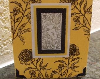 Scorpio Birthday Card Marigold Flower October November Astrology Zodiac