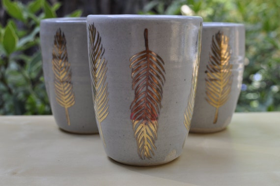 gold feather tumbler