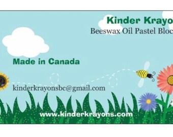 Kinder Krayons Beeswax Oil Pastels