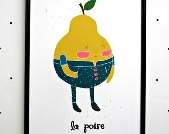 Print- La Poire-
