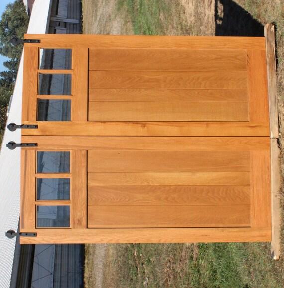 Barnwood Pocket Door Reclaimed Oak Mission Style Barn Door Room Dividers Made To