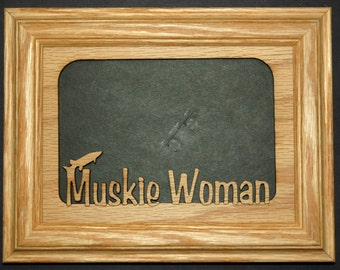 Muskie Woman Picture Frame 5x7