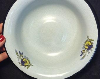 Plate Bowl Enamel Vintage USSR Soviet Russia