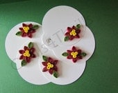 Quilled Poinsettia Gift Tags