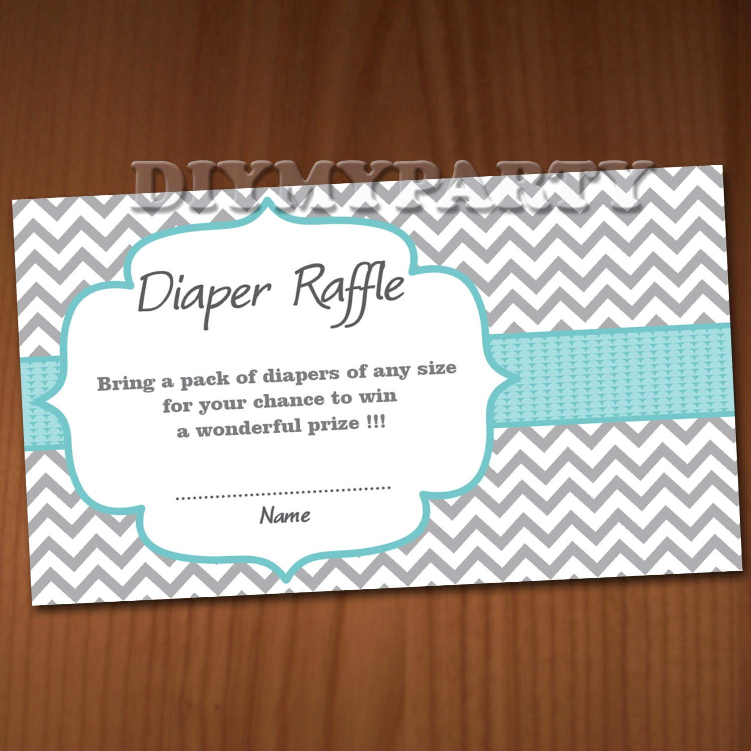 baby shower diaper raffle ticket diaper wipe raffle card