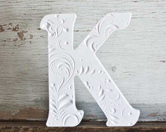 White Letter К 10 inches Wooden letter Home decor letter wedding Wood decoration Wooden letters Office decor Gift for her  christmas gift