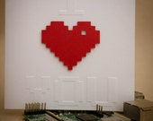 Extra Large Geeky Card - 8-bit / Pixel I Heart You Valentine's Day Greeting Card