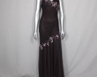 Sable Brown Drop Waist Evening Gown  Weddings, Prom Gown 2017 Formal Gown