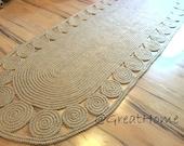 9x3 ft Rug, Hallway Rug, Twine Crochet Rug / Large Braided Rug, Floor Rug