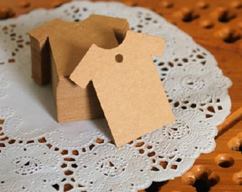 Cardboard tags / Shirt shape gift tags in set of 50