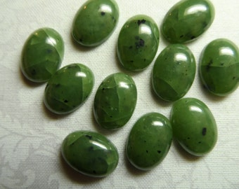 Acrylic high dome 14x10mm green speckled cabochons,10pcs-CAB209