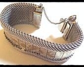 REDUCED Gorgeous Vintage Hobe' Silver Toned Bracelet