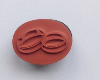 New  for Scrapbooking and Rubber Stamping Foam Mounted Rubber Stamp...Wedding Bands