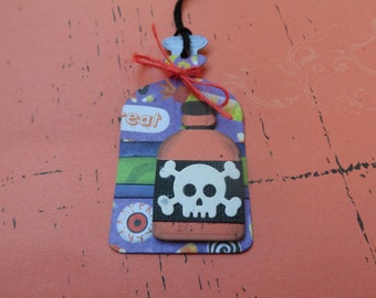 Pure Poison Potion Bottle, Halloween Tag, Treat Tag, Potions, Gift Tag, Holiday Tag