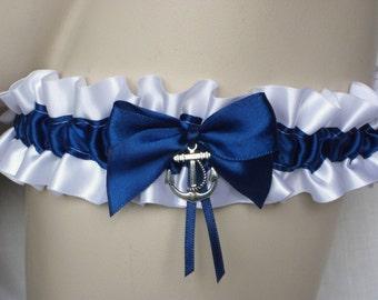 White , Navy Blue , Nautical , Wedding , Bridal , Anchor , Garter , Belt , Sailor , Bachelorette , Hen , Prom , Beach ,Something Blue , UK