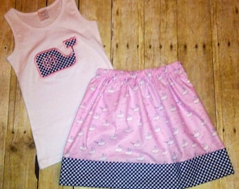 Sz 12 month to 4T applique tank with skirt