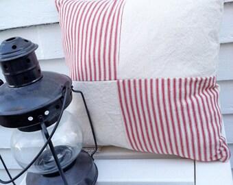Nautical Christmas Pillow - nautical christmas decor, coastal christmas decor, Red nautical pillow, navy nautical pillow, nautical decor