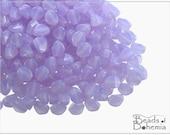50 pcs Lilac Opal Czech Glass Pinch Beads 5x3,5 mm (8685)