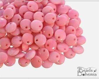 50 pc Opaque Candyfloss Lentil Beads 6 mm (8560)