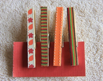 Decorative Fall Clothespins with or without magnets