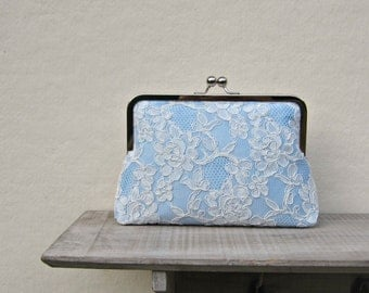 Something blue clutch, blue bridal clutch bag, duck egg blue wedding clutch, lace clutch, blue bridesmaid clutch, blue clutch purse, uk