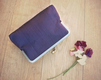 Purple clutch, eggplant clutch, aubergine clutch, purple bridal clutch, purple bridesmaid clutch, eggplant evening clutch, purple purse