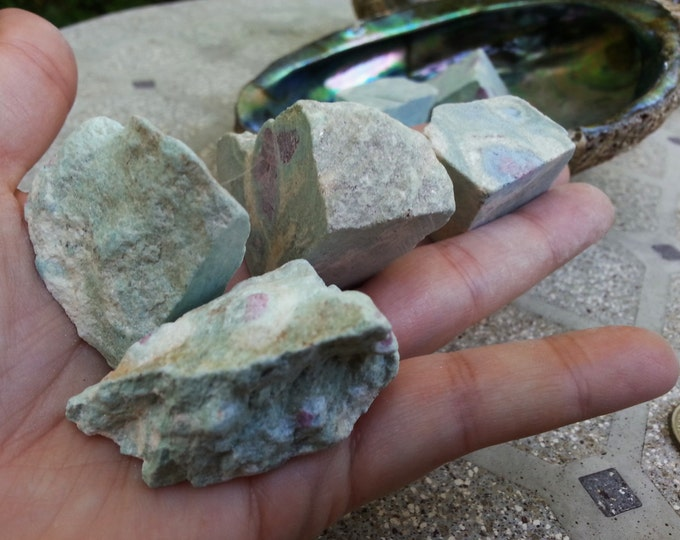 Ruby in Fuchsite ~ 1 Large Reiki infused rough cut stone