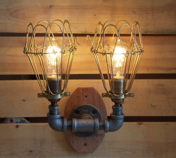 Items Similar To Industrial Wall Scounce Vanity Light On Etsy