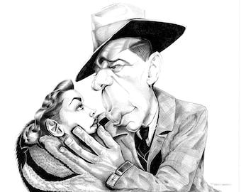 Humphrey Bogart & Lauren Bacall - the Big Sleep